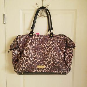 Betsey Johnson Bags - Betsey Johnson Leopard Print Sequin Weekender Bag